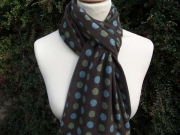 Jessica Jersey Scarf  Multi-Spot Brown