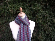 Jessica Jersey Scarf  Multi Spot Grey