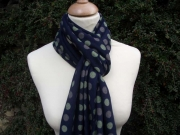 Jessica Jersey Scarf  Multi Spot Navy Blue