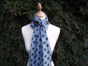 Jessica Jersey Scarf  Spotty Aqua 