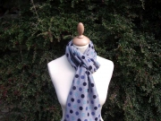 Jessica Jersey Scarf  Spotty Grey Blue