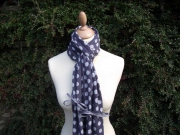 Jessica Jersey Scarf  Spotty Grey