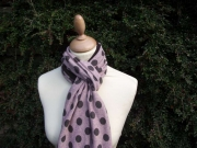 Jessica Jersey Scarf  Spotty Pink