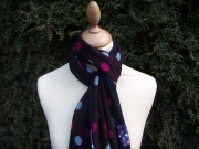 Jessica Jersey Scarf  Spotty Plum