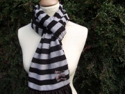 Jessica Jersey Scarf  Stripey Brown