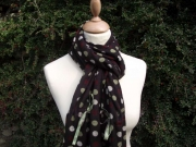 Jessica Jersey Scarf Brown Rust
