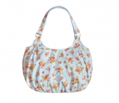 Juliet FairTrade Cotton Flower Bag Pale Blue by Earth Squared