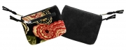 Kelso Floral Velvet Purse Black Red and Green