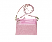 Bijoux Linen Pouch or Clutch Bag Pink