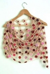 Loretta Crochet Flower Shawl Cream