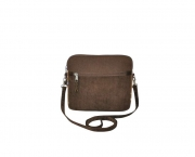 Lucy Fairtrade Felt and Cord Handbag by Earth Squared Brown