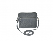Lucy Fairtrade Felt and Cord Handbag by Earth Squared Grey