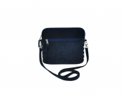 Lucy Fairtrade Felt and Cord Handbag by Earth Squared Navy Blue