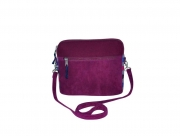 Lucy Fairtrade Felt and Cord Handbag by Earth Squared Plum