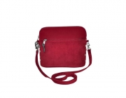 Lucy Fairtrade Felt and Cord Handbag by Earth Squared Red