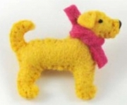 Marley Labrador Dog Felt Brooch