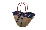 Nautical Raffia Straw  Fairtrade Beach or Shopping Bag