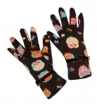 Owl Design Fairtrade Jersey Gloves by Earth Squared Brown