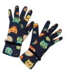 Owl Design Fairtrade Jersey Gloves by Earth Squared Navy