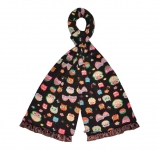 Owl Design Fairtrade Jersey Scarves by Earth Squared Brown