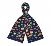 Owl Design Fairtrade Jersey Scarves by Earth Squared Navy