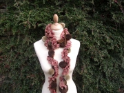 Passionara Pompom Scarf Brown