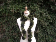 Passionara Pompom Scarf Green