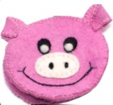 Piggy Fairtrade Felt Purse by Felt So Good