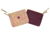 Ava Tweed Purse Pink Coral