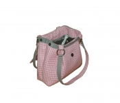 Ava Tweed Handbag Pink & Cream