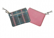 Pink Grey and Blue Tweed Ava Purse