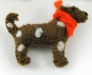 Pogo Spotty Dog Felt Brooch