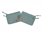 Charlie Spotty Floral  Purse Powder Blue