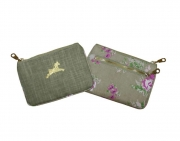 Alice Floral Purse Sage and Purple