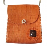 Dora Straw fairtrade Shoulder bag Orange