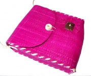Dora Straw fairtrade shoulder Bag Pink