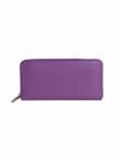 Recycled Leather Long Purse Purple