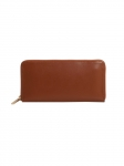 Recycled Leather Long Purse Tan