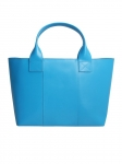 Recycled Leather Pale Blue Handbag