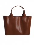 Recycled Leather Tan Handbag