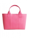 Recycled Pink Leather Handbag