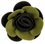 Rose Fair Trade Felt Flower Brooch