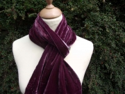 Sophia Velvet Satin Scarf Plum