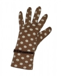 Spotty Fairtrade Jersey Gloves by Earth Squared  Brown