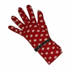 Spotty Fairtrade Jersey Gloves by Earth Squared  Red