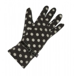 Spotty Fairtrade Jersey Gloves by Earth Squared Grey