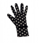 Spotty Fairtrade Jersey Gloves by Earth Squared Navy