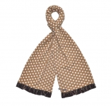Spotty Fairtrade Jersey Scarves by Earth Squared  Brown
