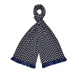 Spotty Fairtrade Jersey Scarves by Earth Squared Navy Blue