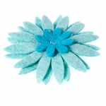 Stardom Fair Trade Felt Flower Brooch